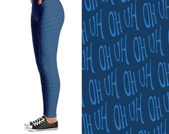 Uh Oh, blue: Leggings