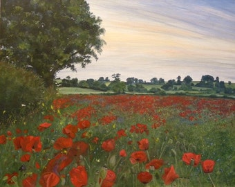HillArt -  Poppy Field Card