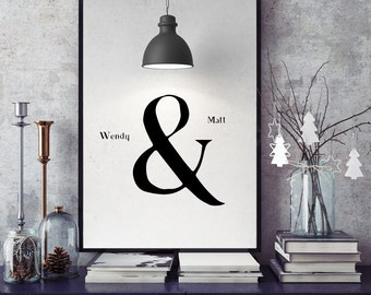 Personalized, couples  Names design, Home Decor, Couple Gift, Romantic Gift, Unique Valentine, Wedding Gift