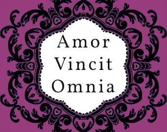 Amor Vincit Omnia Cross Stitch Pattern