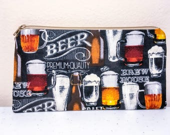 Beer Brewery Brewing Pencil Case Pouch Zippered Pouch