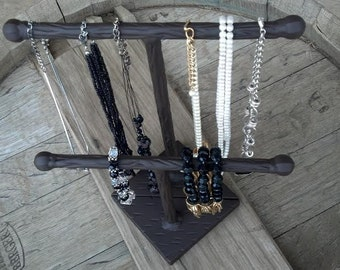 Necklace/Bracelet Wrought Iron T JEWELRY Holder SET, Bracelet  / Watch Display / Bracelet Holder, set of 2