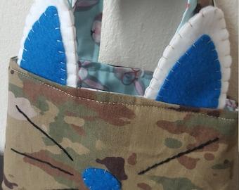 Blue bunny purse