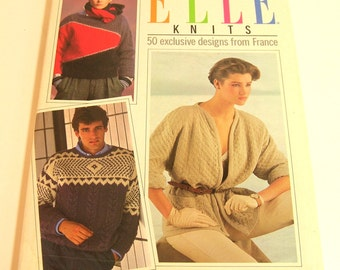 Elle Knits 50 Exclusive Designs From France Vintage Knitting Book