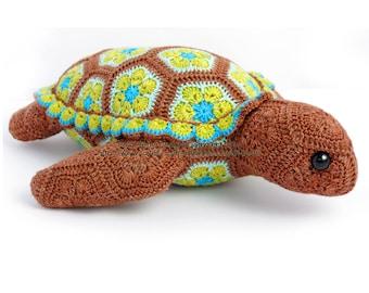 Atuin der afrikanischen Turtle-Blumenmuster häkeln