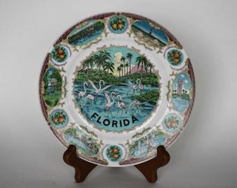 vintage florida souvenir plate matsumura co made in japan