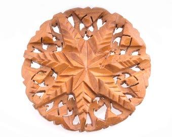 Wooden Snowflake Pin