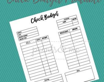 Check Budget PDF Printable