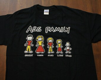 SALE-The Ass Family Funny T-shirt Humor Funny Men's T-Shirts (FREE SHIPPING)