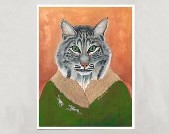 Art Print - Bobcat - Signed by Artist - 3 Sizes - S/M/L