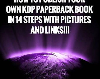how to publish your  Amazon KDP back back in 14 steps!!!