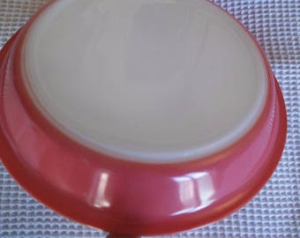 Pink Flamingo Pyrex Pie Plate 50's 36 True Condition Shown with Light Collector