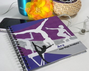Personalized Girls' Gymnastics Scorebook