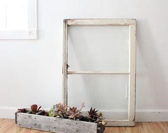 Antique Window / 2 Pane / Photo Prop / Staging Prop / Wedding DIY sign / DIY / Architectural Salvage / Vintage Window