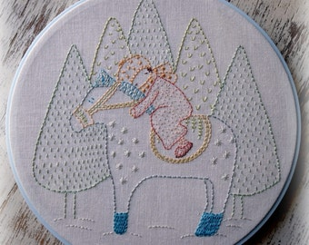 hand embroidery kit winter dream