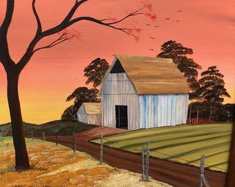 Barn Pictures, Art Work, Canvas Painting, Originals
