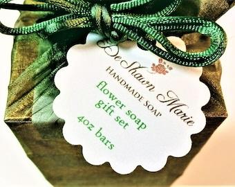 SOAP Gift - Flower lover Soap gift set - soap gift bag - 5 soap vegan gift set - flower soap set