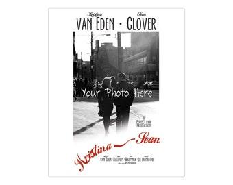 Custom Wedding Casablanca Vintage Inspired Movie Poster (Printable file available)