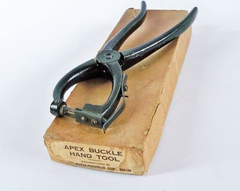 APEX Buckle Hand Tool, Old Cobbler's Tool, Shoemaker Tool, Stapler, Made by Eliott-Heaton Peninsular Corp