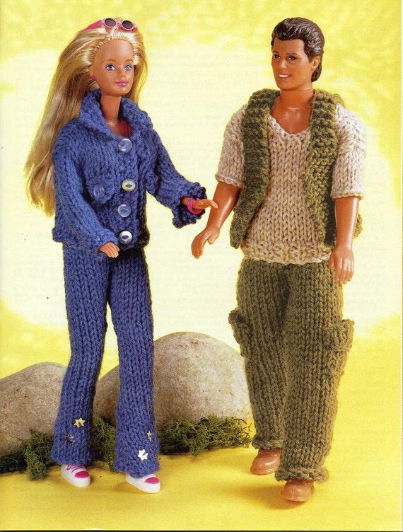 Teenage Doll Knitting Pattern Pdf Barbie Jeans Jacket Ken Trousers
