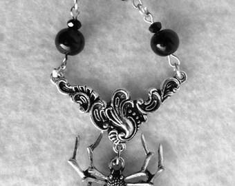 The Black Widow Necklace - Spider, Gothic