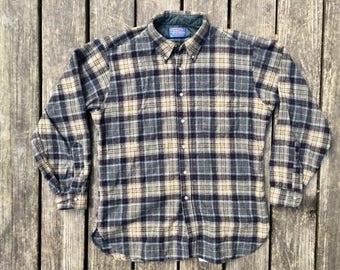 Vintage Pendelton Wool Shirt, Size Large