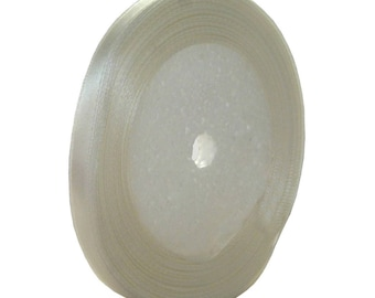 Roll of 22 meters of Ribbon satin white 7mm - free shipping