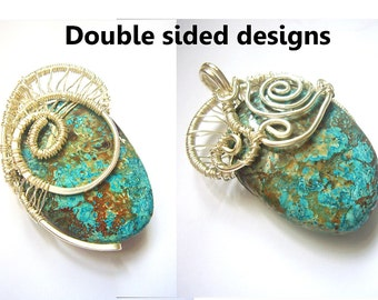 Sale Stone pendant necklace id1320863 handmade jewelry jewellery, wire work, statement pendant, gift for her