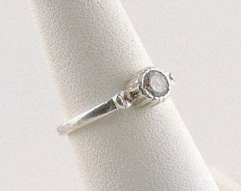 Size 6 Sterling Silver And .50ct Round Cubic Zirconia Ring