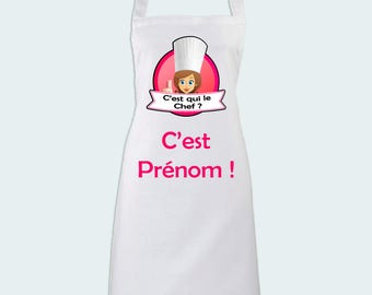 Apron is the leader? with custom name - woman