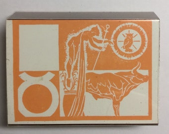 Vintage Unused TAURUS Astrological Sign Rubber Stamp