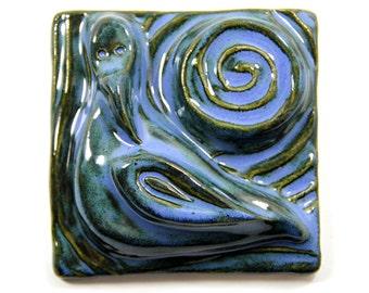Ceramic Bird Tile - 4 inch tile