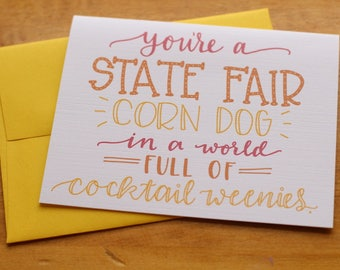 State Fair Corn Dog Card