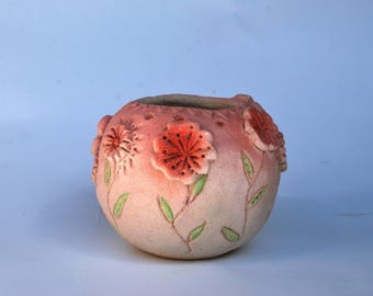 Pink pot Mini planter Flower ceramic cactus pot succulent pottery home decor Nursery décor gift for her housewarming girl