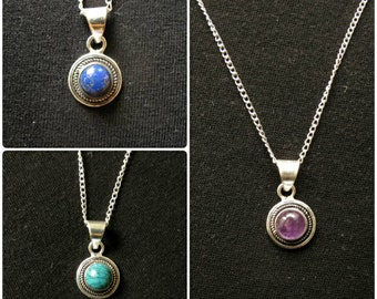 Silver plated necklace - Eye