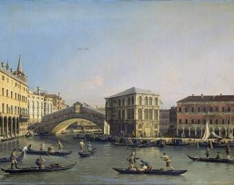 Canaletto: The Rialto Bridge. Fine Art Print/Poster. (003457)