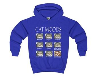 Lol Cute Animal Internet Memes Kids Cat Moods Hoodie