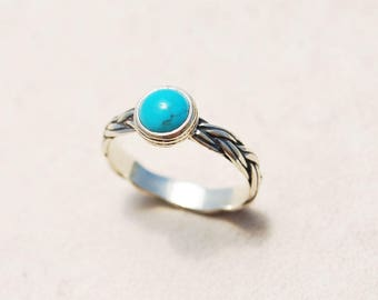 Turquoise Engagement Ring, Unique Engagement Ring, Sterling Silver Turquoise ring, Personalized engagement ring, December birthstone ring