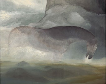 Giant (horse and mountain giclee print, unmatted)