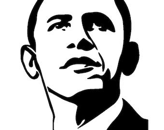 Stencil cutting files Barack Obama Former US President Svg Png Pdf download stencils digital file sewing sign plotter cut