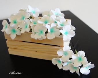 Wedding hair pin with Hydrangea,Bridal hair pin,Wedding accessories.