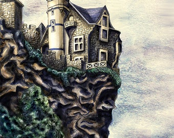 "Giclee print ""On the Cliff"""