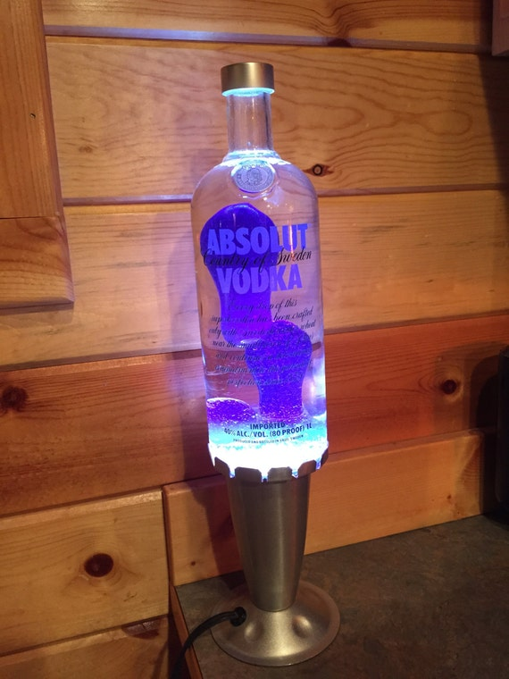 Custom Lava Lamp Light Absolut Vodka 1 Liter