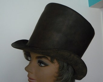 Leather Top Hat Brown