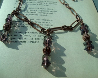 Copper and Purple Majesty Necklace
