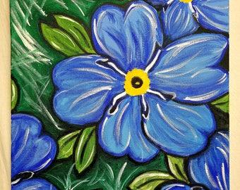 Forget Me Nots - Origianl Painting