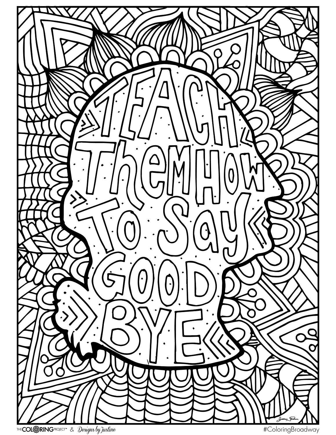coloring pages broadway musicals - photo#2