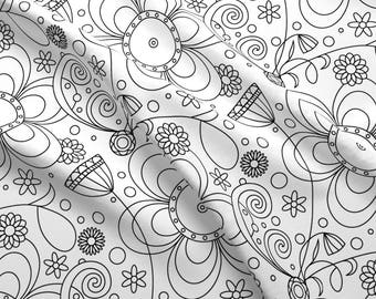 Coloring Book Fabric