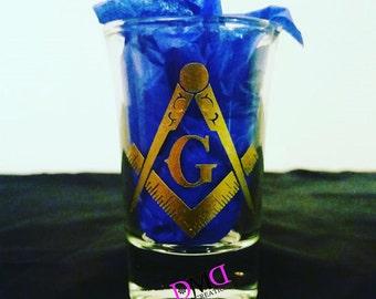 Masonic Crest Shot Glass
