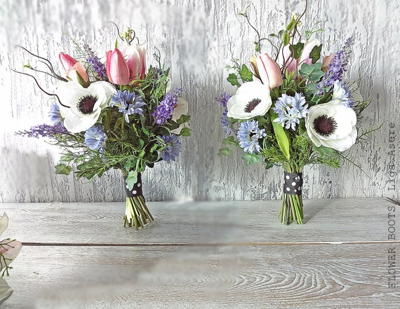 Items Similar To Rustic Bridal Bouquet Spring Summer